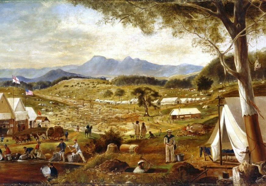Edward_Roper_-_Gold_diggings,_Ararat,_1854